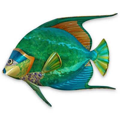 T.I. Design Stainless Steel Queen Angelfish Wall Art, , default