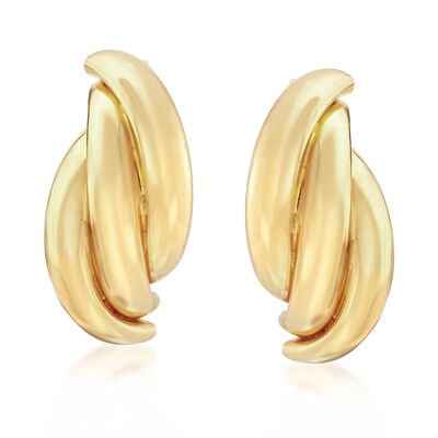 22kt Yellow Gold Twisted Drop Earrings, , default