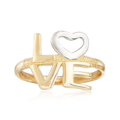 """14kt Yellow Gold """"Love"""" Stack Ring, , default"""