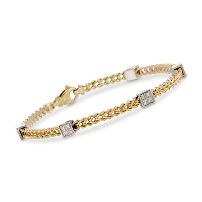 .30 ct. t.w. Diamond Link Bracelet in 14kt Two Tone Gold, , default