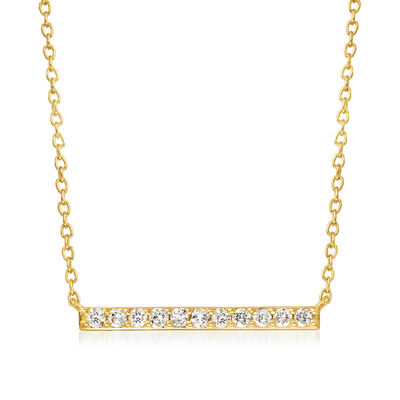 .25 ct. t.w. Diamond Bar Necklace in 18kt Gold Over Sterling