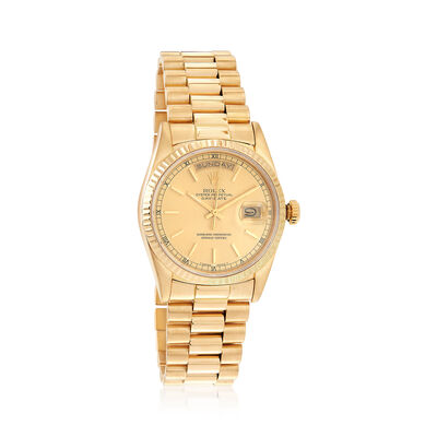 Certified Pre-Owned Rolex Day-Date Men's 36mm Automatic Watch in 18kt Yellow Gold, , default