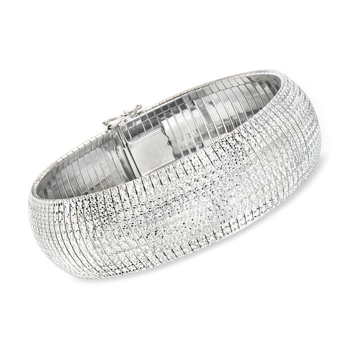Charles Garnier Medium Sterling Silver Omega Bracelet