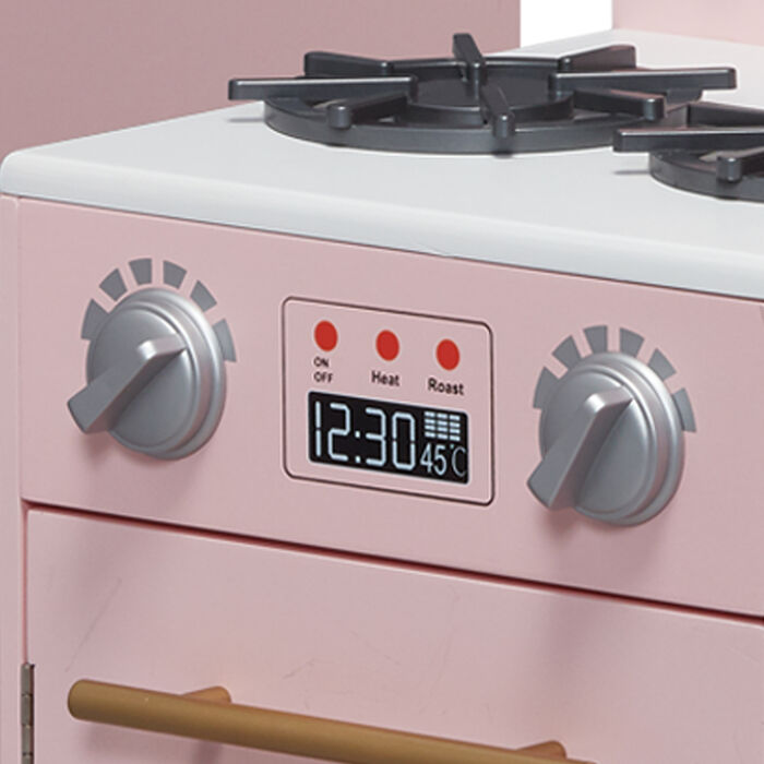 Child's Little Chef Chelsea Modern Play Kitchen in Pink