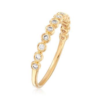 Henri Daussi .21 ct. t.w. Diamond Wedding Ring in 18kt Yellow Gold