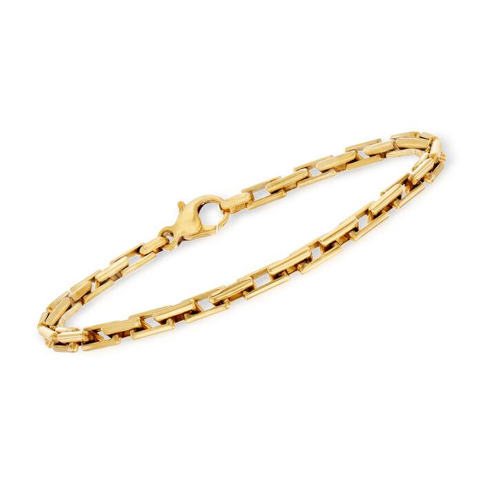 "C. 1990 Vintage 18kt Yellow Gold Cable-Link Bracelet. 8"""