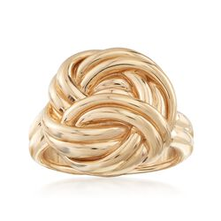 14kt Yellow Gold Knot Ring, , default
