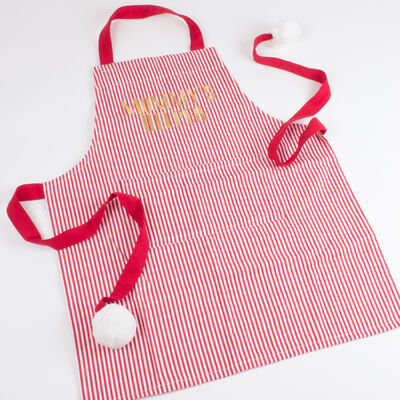 "Child's ""Mommy's Helper"" Holiday Apron"