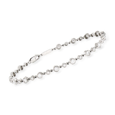 C. 1980 Vintage Tiffany Jewelry 3.75 ct. t.w. Diamond Bracelet in Platinum, , default