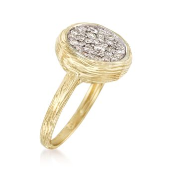 .40 ct. t.w. Pave Diamond Ring in 14kt Yellow Gold, , default