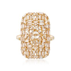 1.20 ct. t.w. Baguette Diamond Mosaic Ring in 14kt Yellow Gold, , default