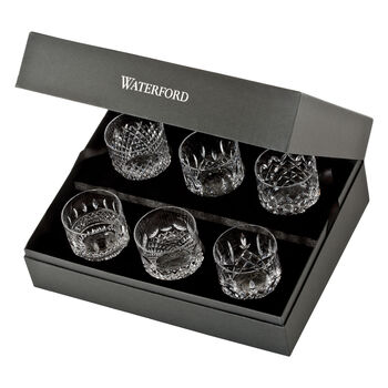 """Waterford Crystal """"Connoisseur"""" Set of 6 Heritage Straight-Sided Tumbler Glasses"""