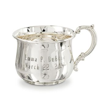 Baby's Sterling Silver Personalized Bulged Cup , , default