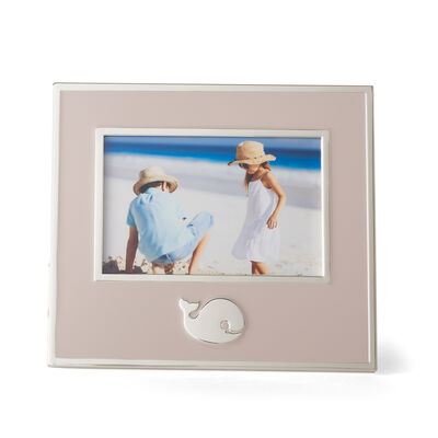"Reed and Barton ""Mystic Sea"" Pink Whale Picture Frame, , default"