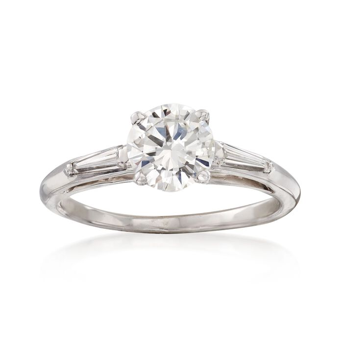C. 2000 Vintage 1.02 ct. t.w. Certified Diamond Ring in 14kt White Gold. Size 5.5, , default