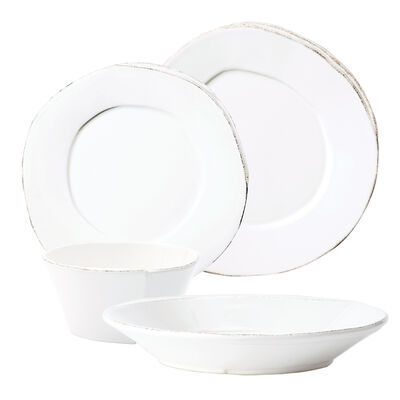 "Vietri ""Lastra"" White Dinnerware from Italy, , default"