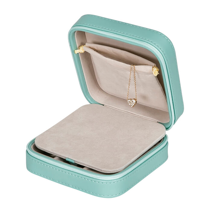 "Mele & Co. ""Josette"" Mint Faux Leather Travel Jewelry Case"