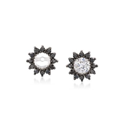 .50 ct. t.w. Black Diamond Earring Jackets in 14kt White Gold, , default