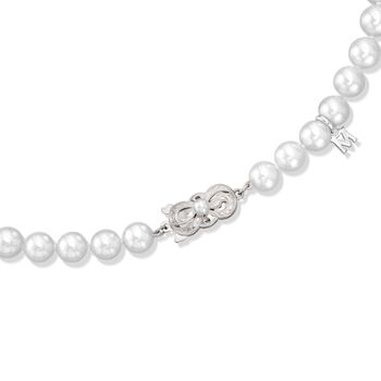 """Mikimoto 7-8mm A1 Akoya Pearl Necklace in 18kt White Gold. 32"""", , default"""