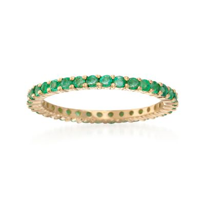 .80 ct. t.w. Emerald Eternity Band in 14kt Yellow Gold, , default