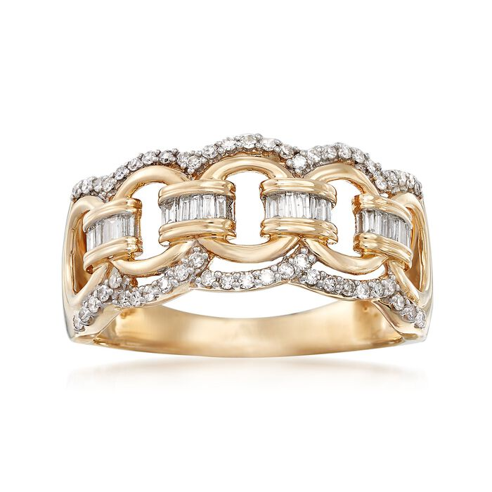 .33 ct. t.w. Diamond Circle-Link Ring in 14kt Yellow Gold, , default