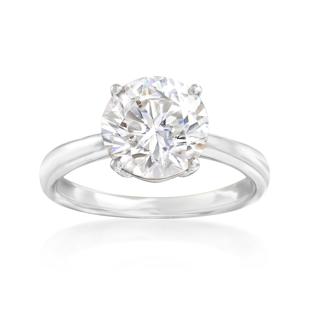 3 00 Carat Cz Solitaire Ring In 14kt White Gold Ross Simons