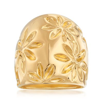 Italian Andiamo 14kt Yellow Gold Floral Ring, , default