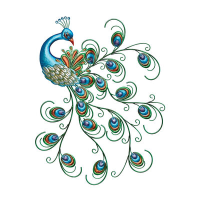 Regal Metal Peacock Wall Decor