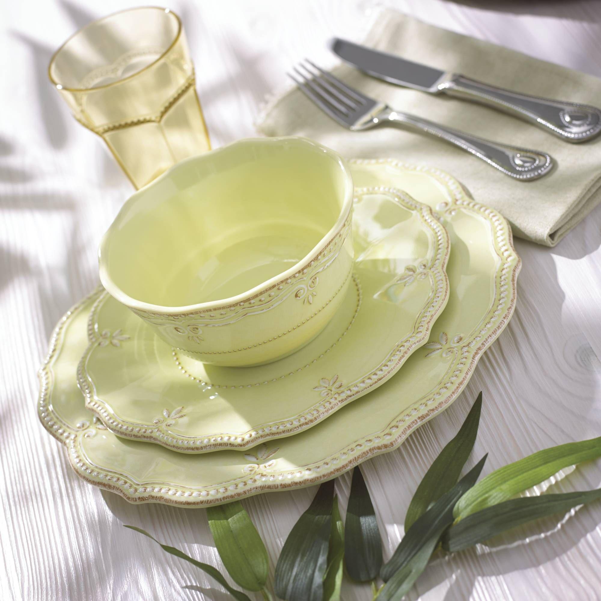 Lenox \u0026quot;French Perle\u0026quot; Kiwi Melamine Dinnerware   default & Lenox \