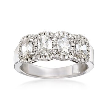 Henri Daussi 1.29 ct. t.w. Four-Stone Diamond Ring in 18kt White Gold, , default