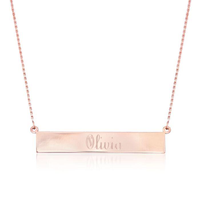 14kt Rose Gold Name Bar Necklace