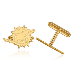 14kt Yellow Gold NFL Miami Dolphins Cuff Links, , default