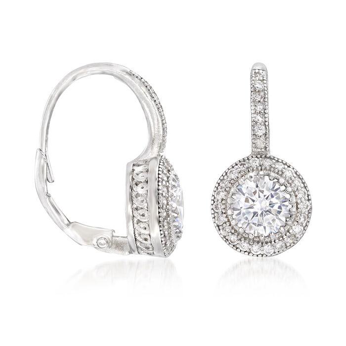 1.90 ct. t.w. CZ Round Drop Earring in Sterling Silver