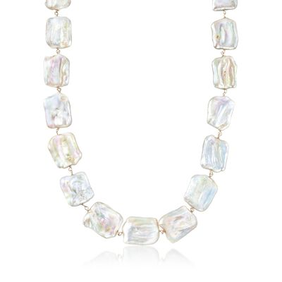 17-20mm Cultured Baroque Pearl Necklace in 14kt Yellow Gold