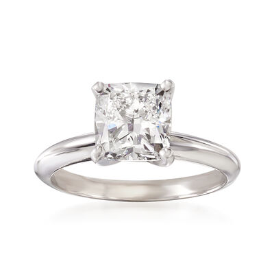 2.21 Carat Certified Diamond Solitaire Ring in 14kt White Gold