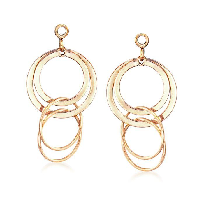 14kt Yellow Gold Multi-Circle Dangle Earring Jackets