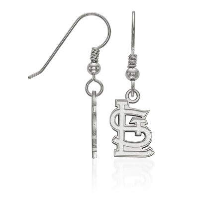 Sterling Silver MLB St. Louis Cardinals Small Dangle Earrings, , default