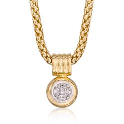 ".50 ct. t.w. Diamond Illusion Pendant Necklace in 14kt Yellow Gold. 18"", , default"