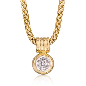 """.50 ct. t.w. Diamond Illusion Pendant Necklace in 14kt Yellow Gold. 18"""", , default"""