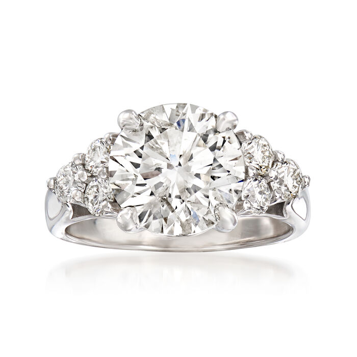 Majestic Collection 4.84 ct. t.w. Diamond Ring in 18kt White Gold