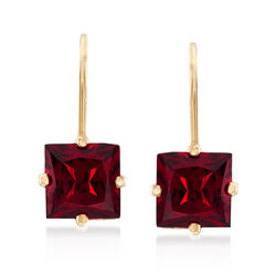 2.68 ct. t.w. Garnet Earrings in 14kt Yellow Gold, , default