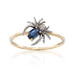 .20 Carat Sapphire Spider Ring in 14kt Yellow Gold, , default