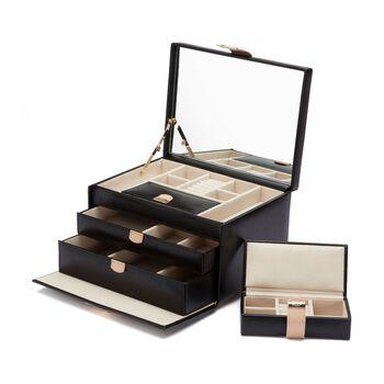 "Wolf Designs ""Chloe"" Leather Medium Jewelry Box, , default"