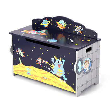 Outer Space Children's Wooden Toy Chest, , default