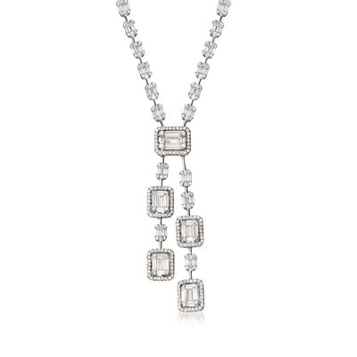8.50 ct. t.w. CZ Drop Necklace in Sterling Silver, , default