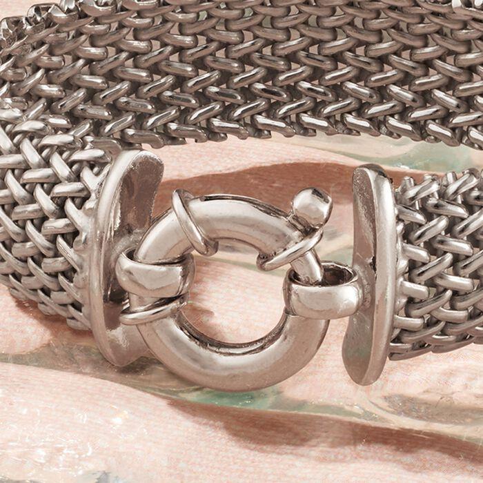 Italian Sterling Silver Riso Bracelet