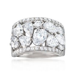 5.10 ct. t.w. Multi-Cut CZ Ring in Sterling Silver, , default
