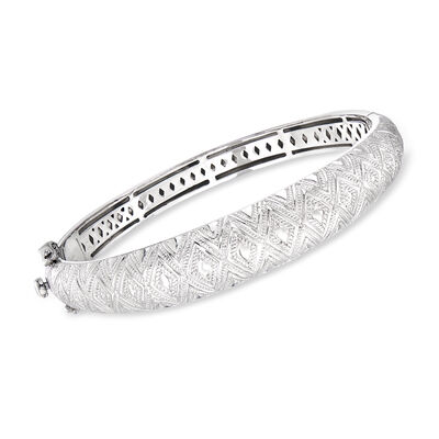 "Andrea Candela ""Tapiceria"" Sterling Silver Beaded Dome Bangle Bracelet, , default"