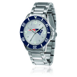Men's 46mm NFL New England Patriots Stainless Steel Key Watch, , default