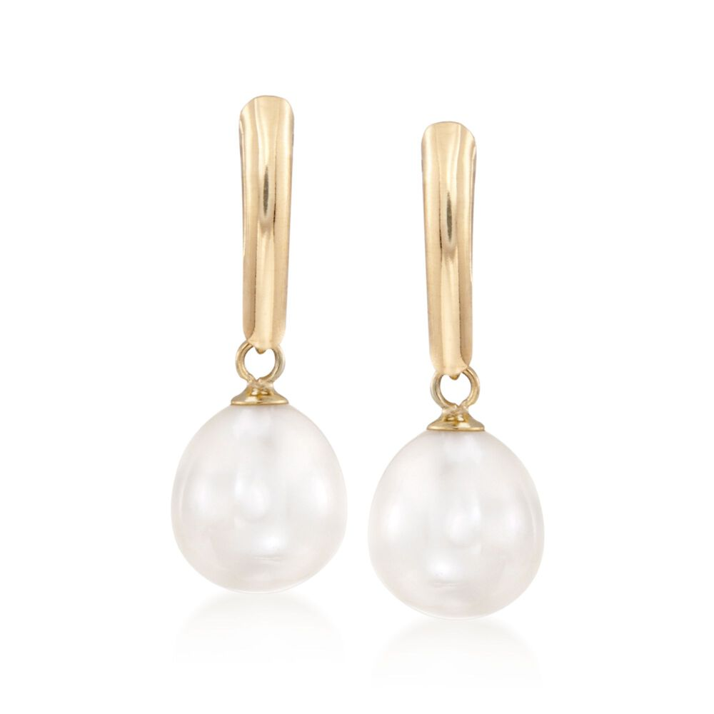 8 5 9mm Cultured Pearl Drop Earrings In 14kt Yellow Gold Default